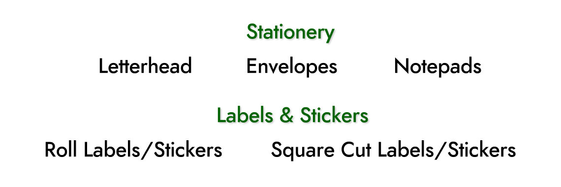 Stationery & Labels