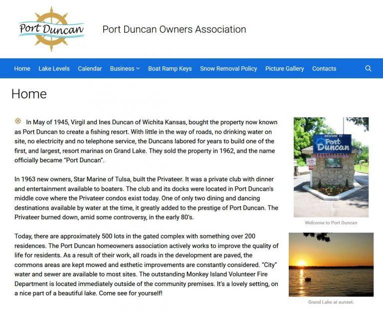 AFTER — Port Duncan